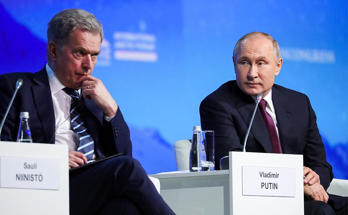 Саули Ниинистё и Владимир Путин (слева направо)