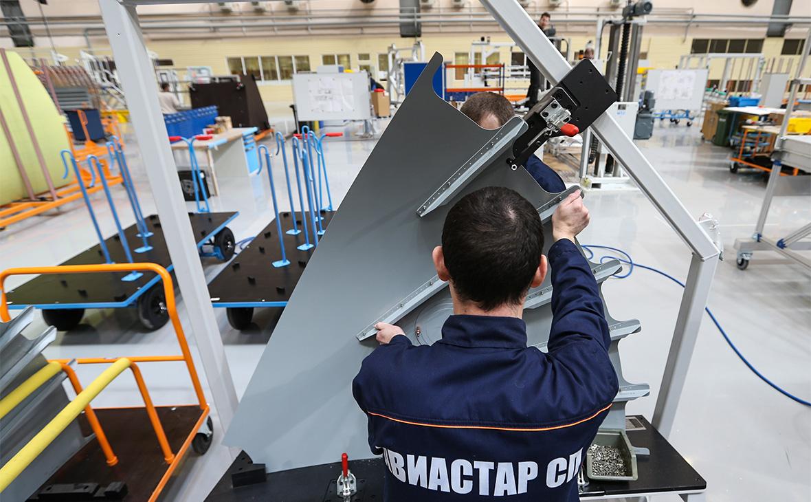 Работа завода «Авиастар-СП» в Ульяновске