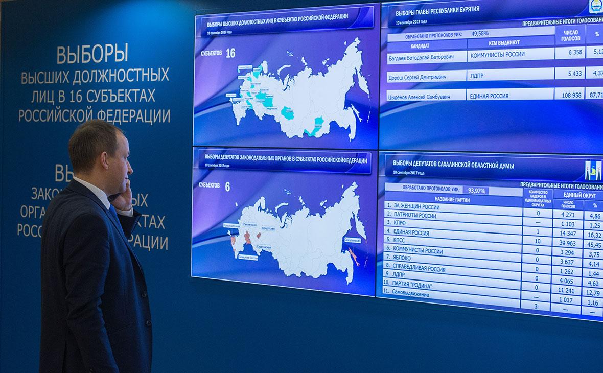 В Центральной избирательной комиссии в единый день голосования