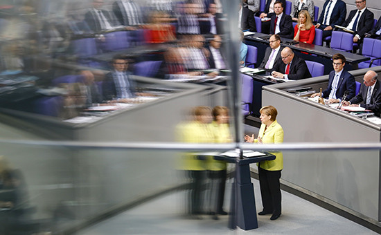 Выступление канцлера ФРГ Ангелы Меркель на саммите участников проекта Европейского союза «Восточное партнерство»
