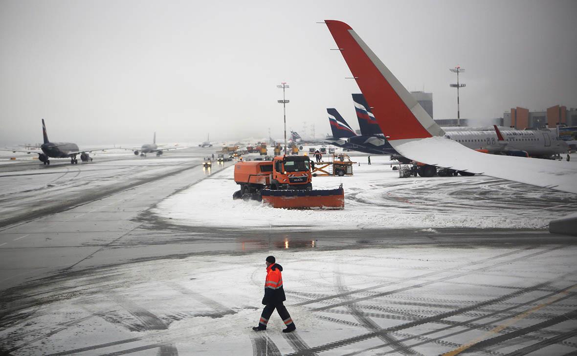 Ситуация на летном поле в аэропорту Шереметьево