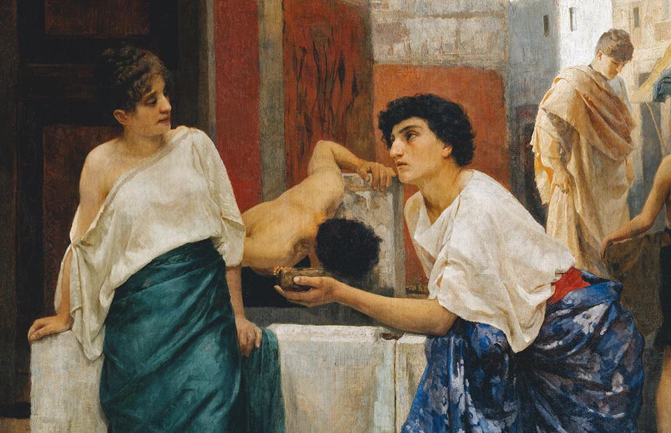 Александр Киселев,«У колодца. Сцена из помпейской жизни».1887 год