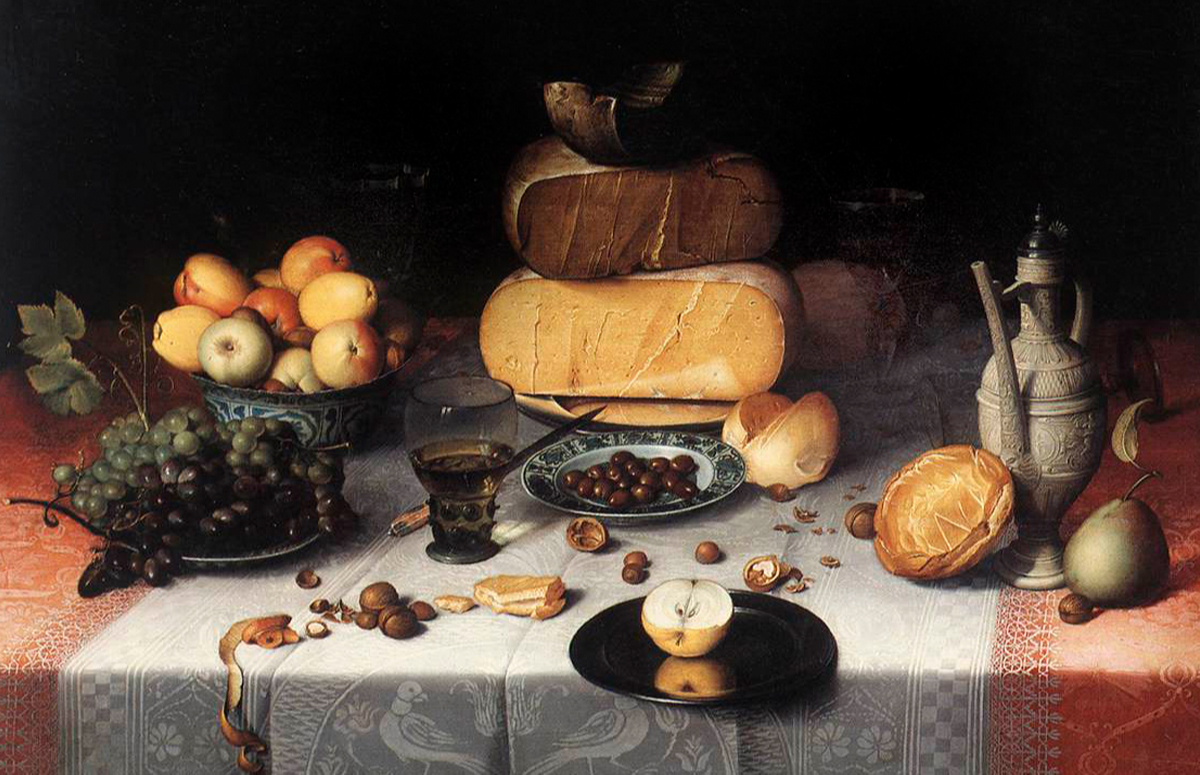 Флорис ван Дейк. «Натюрморт с сыром». Ок. 1615