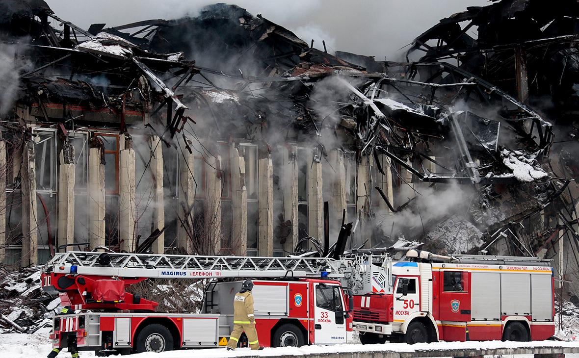 Пожар в здании библиотеки ИНИОН РАН в 2015 году
