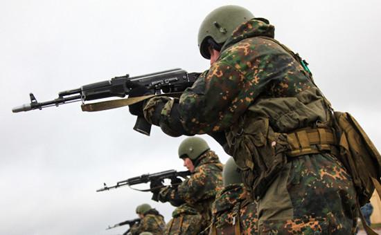 Во время тактико-специальных учений внутренних войск МВД России