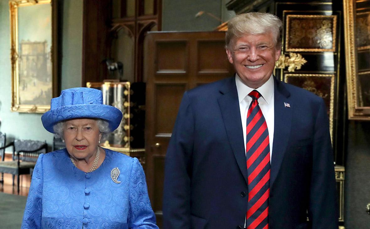 Дональд Трамп и ЕлизаветаII