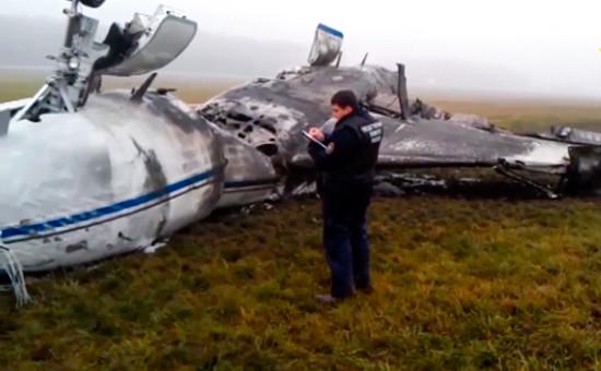 На месте крушения самолета Dassault Falcon 50 ваэропорту Внуково. Архивное фото