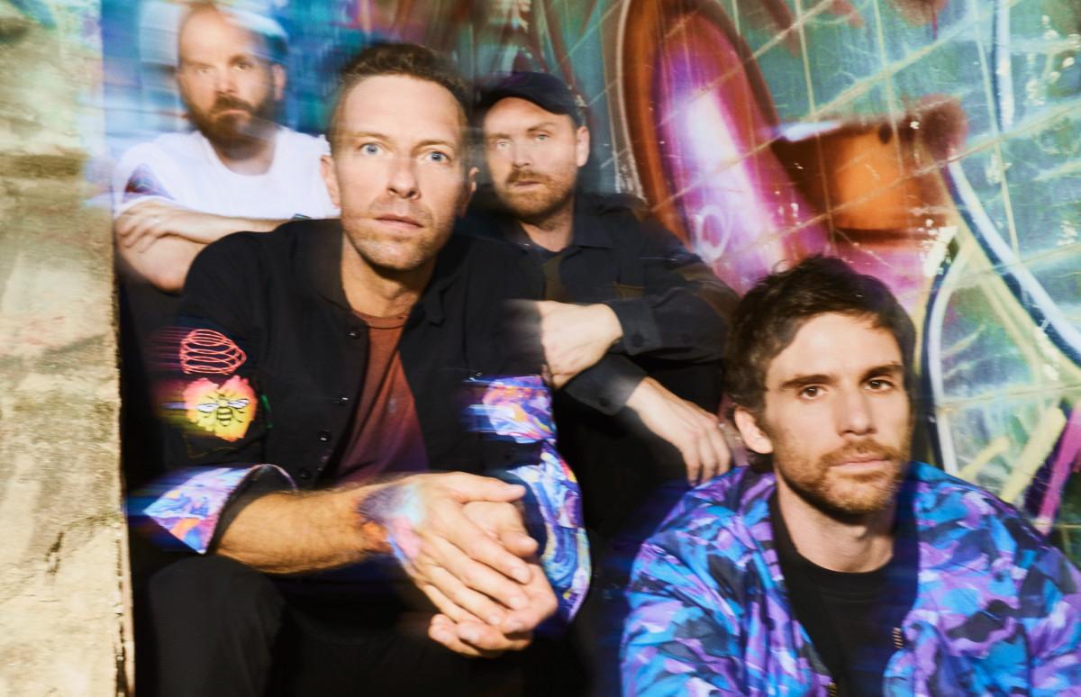 Участники группы Coldplay: Крис Мартин, Джонни Баклэнд, Гай Берримен, Уилл Чемпион