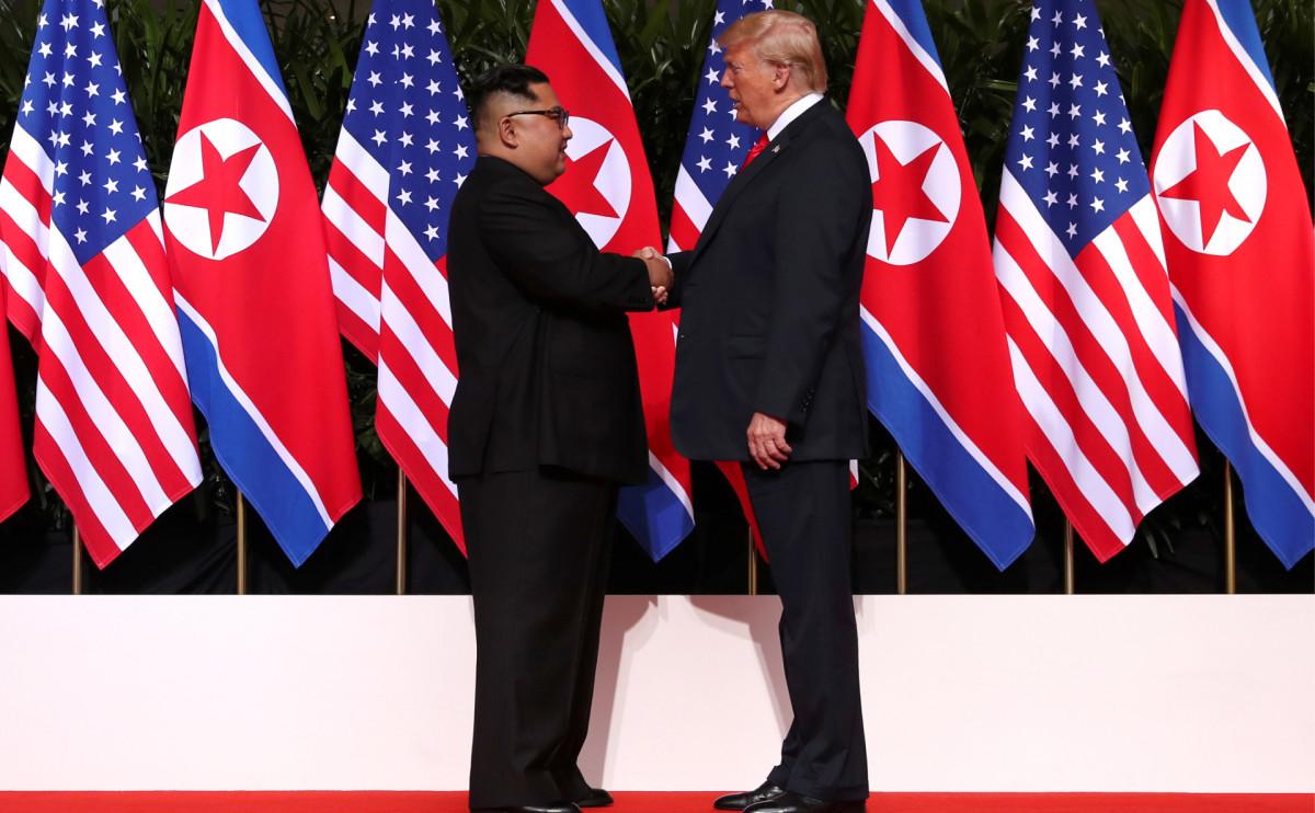 Первый саммит Трампа и Ким Чен Ына в Сингапуре летом 2018 года