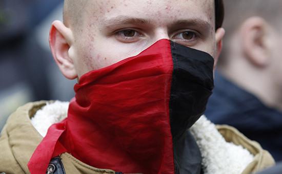 Активист «Правого сектора» в Киеве. Архивное фото