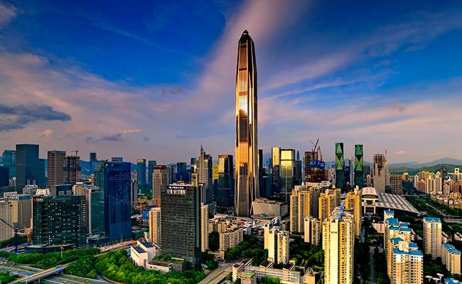 Визуализация небоскреба финансового центра Ping An