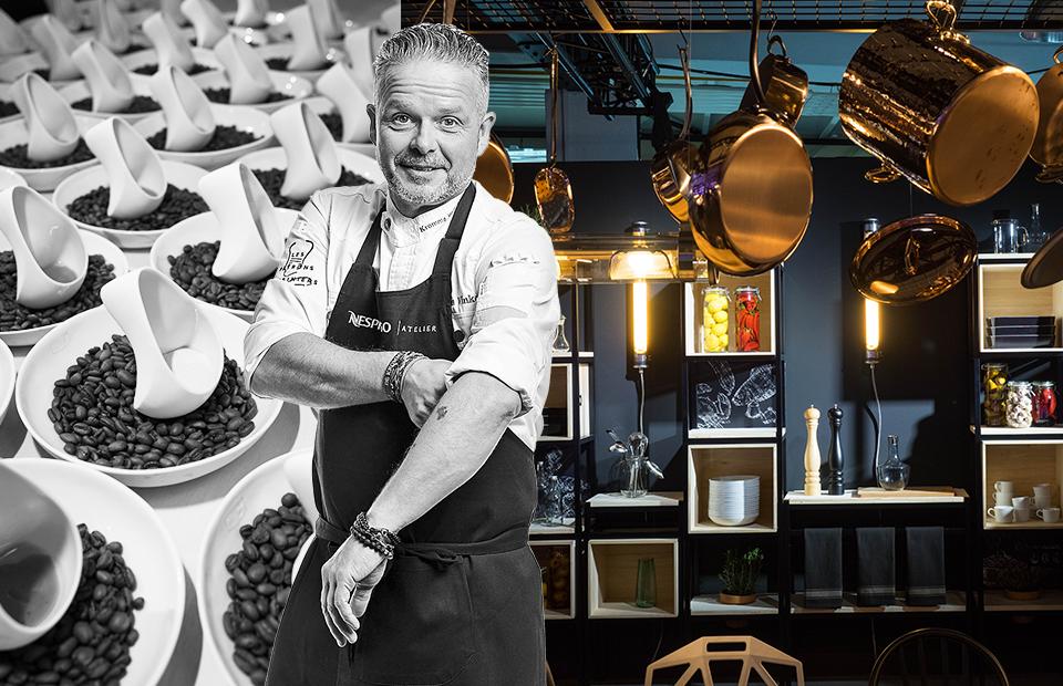Обладатель двух звезд Michelin Эдвин Винке из нидерландского De Kromme Watergang стал одним из приглашенных поваров Ателье Nespresso. И в его сете без кофейного пейринга не обошлось: новый бленд Grand Cru Nepal Lamjung сочетался с авторской кухней с зеландскими мотивами.
