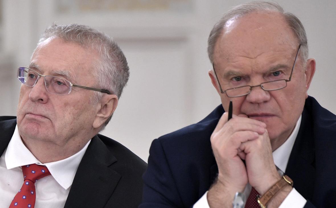 Владимир Жириновский и Геннадий Зюганов