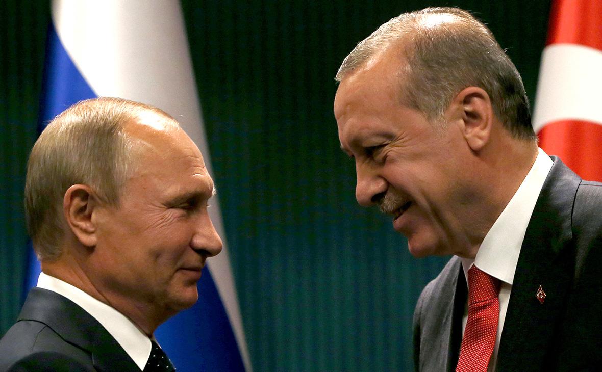Владимир Путин и Рейджеп Эрдоган