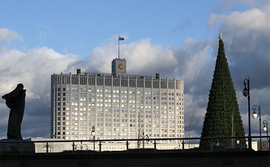 Вид наздание Дома правительства РФ