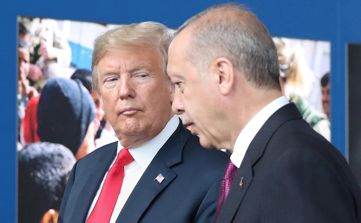 Дональд Трамп и Реджеп Тайип Эрдоган. Июль 2018 года