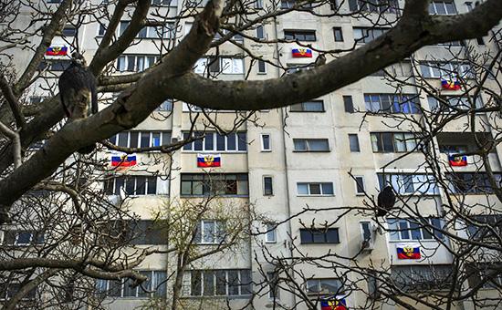 Жилой дом в Севастополе. 14 марта 2014 года