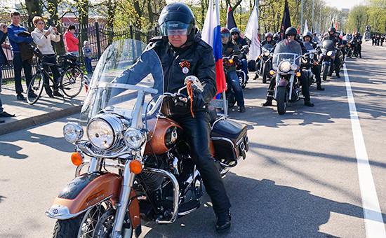 Губернатор Калининградской области Николай Цуканов участвует в ежегодном мотопробеге по маршруту Калининград — Бранево (Республика Польша)