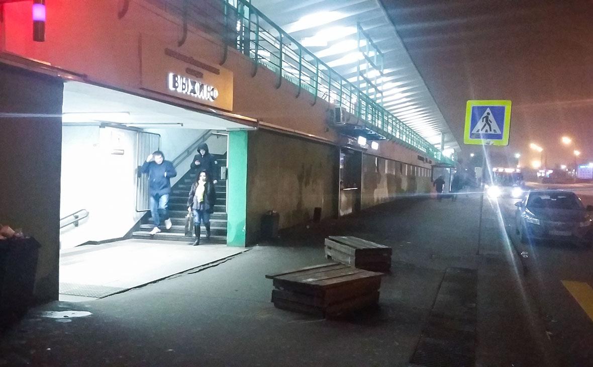 Вход на станцию метро «Выхино»