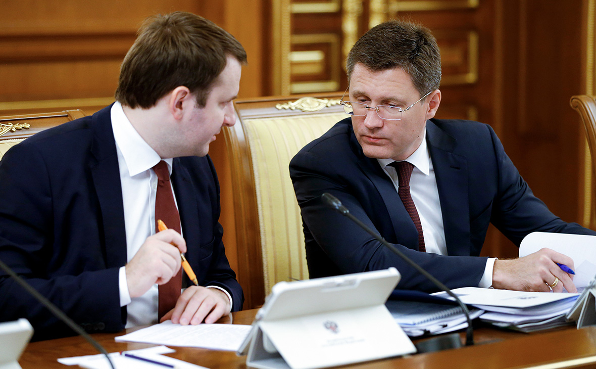 Максим Орешкин и Александр Новак (слева направо)
