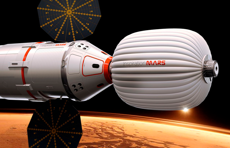 Возвращаемая капсула и жилой отсек Inspiration Mars