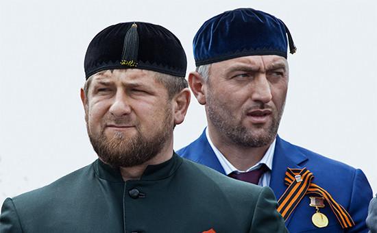 Глава Чечни Рамзан Кадыров идепутат Государственной думы РФ Адам Делимханов
