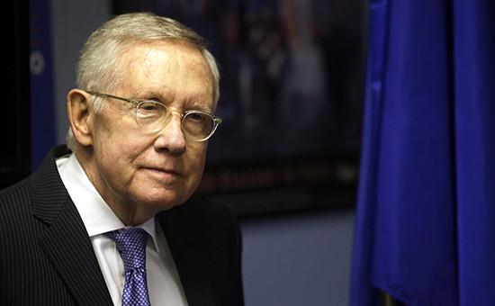 Лидер демократов всенате конгресса США Гарри Рид