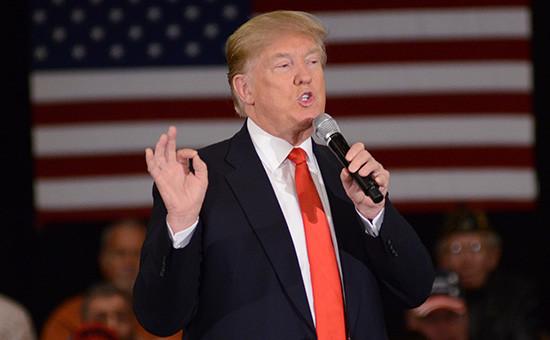 Кандидата на пост президента США от Республиканской партии Дональд Трамп
