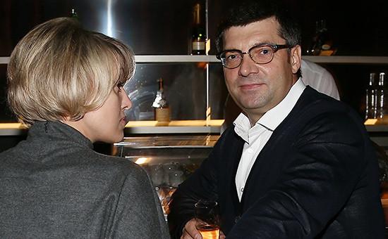 Олег Денисенкос супругой, 2013 год