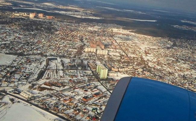 Вид наМосковскую область изсамолета