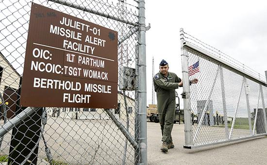 Пропускной пункт в центре управления межконтинентальными ракетами в Северной Дакоте
