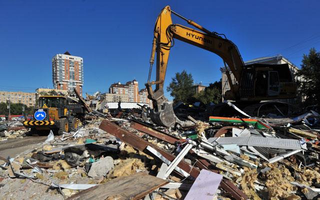 Продолжается снос объектов самовольного строительства в Москве