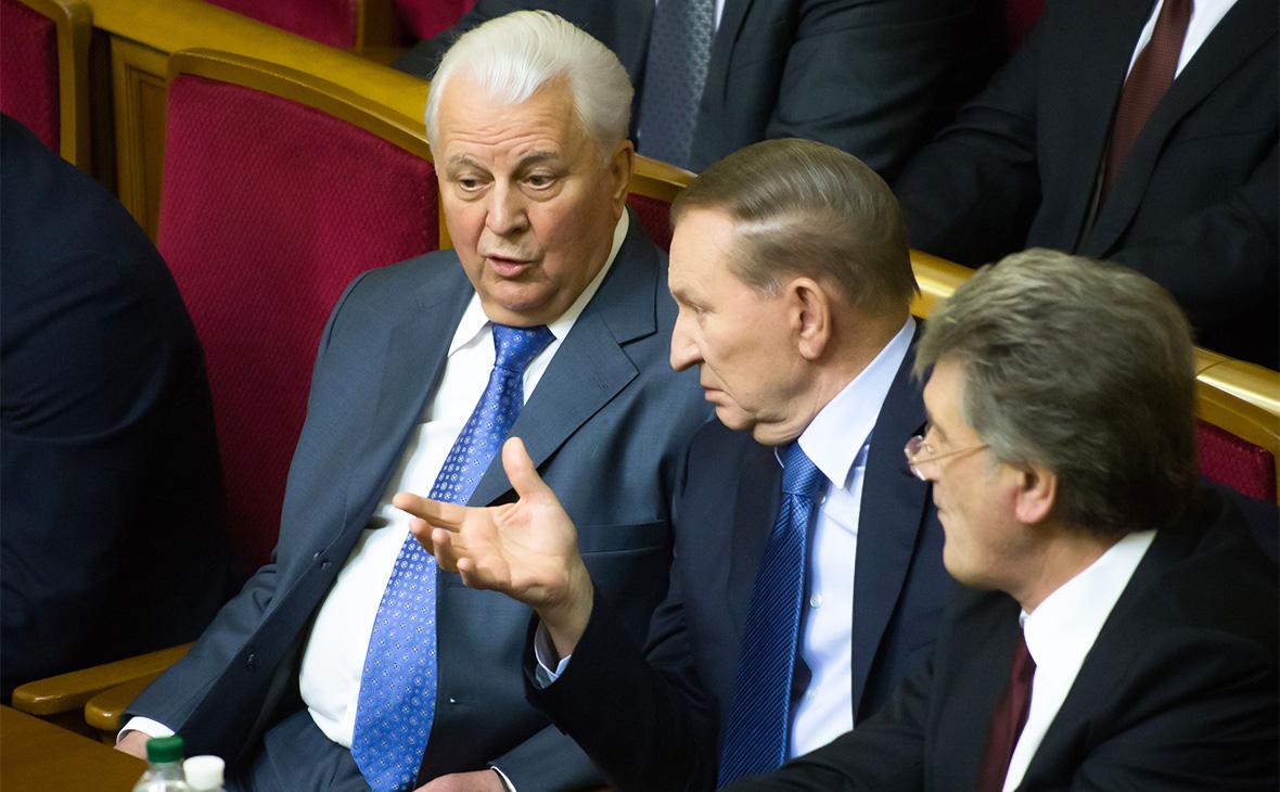 Леонид Кравчук, Леонид Кучма и Виктор Ющенко (слева направо)