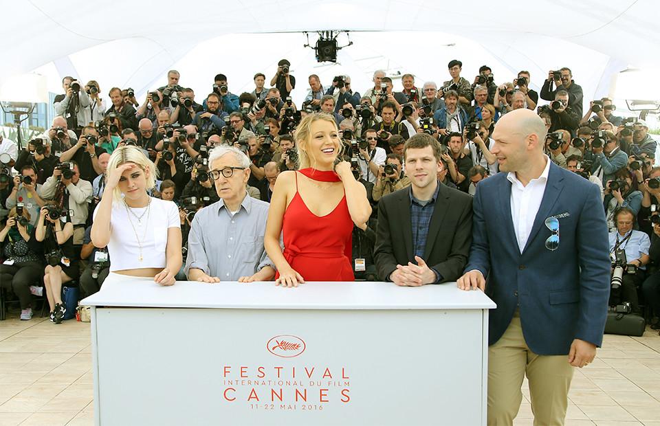 Кристен Стюарт, Вуди Аллен, Блейк Лайвли, Джесси Айзенберг и Кори Столл на 69-м международном кинофестивале в Каннах