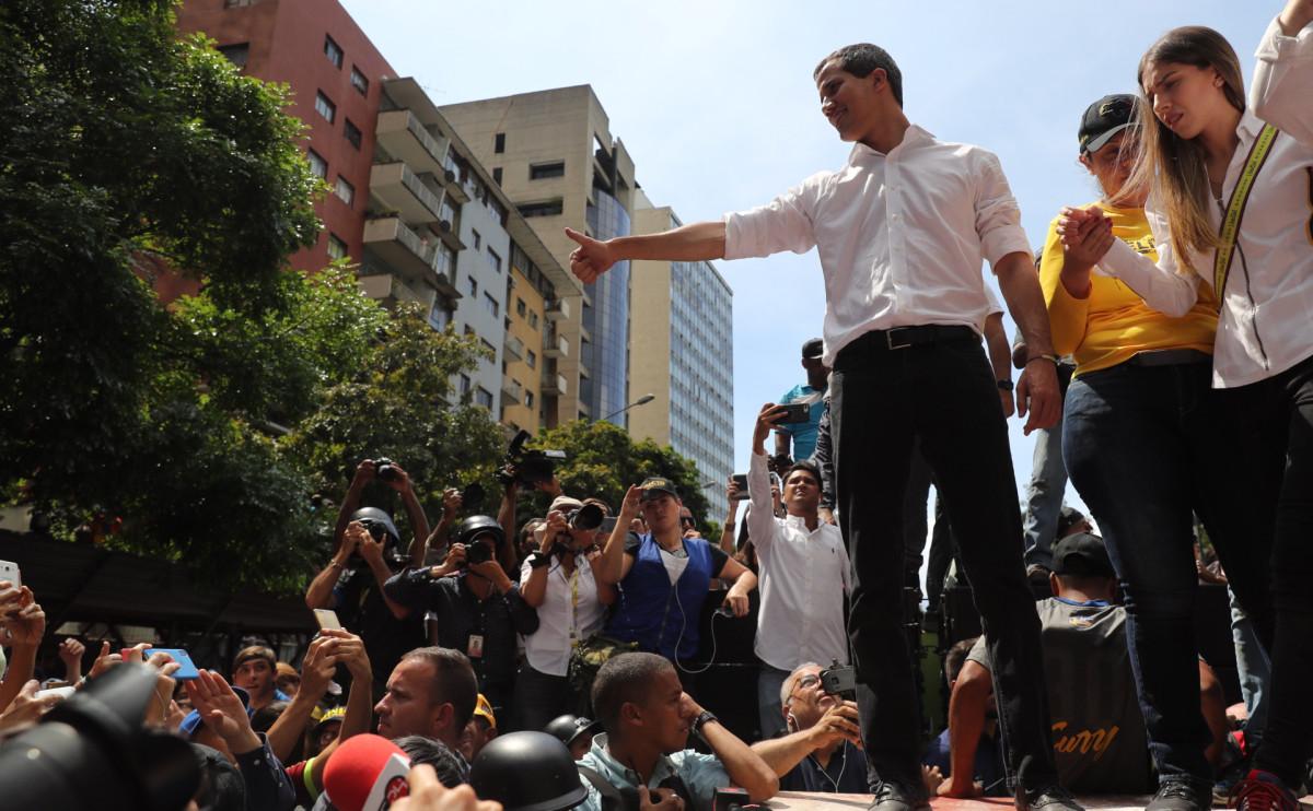 Лидер венесуэльской оппозиции Хуан Гуаидо