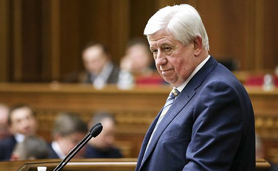 Отправленный вотставку генпрокурор Украины Виктор Шокин