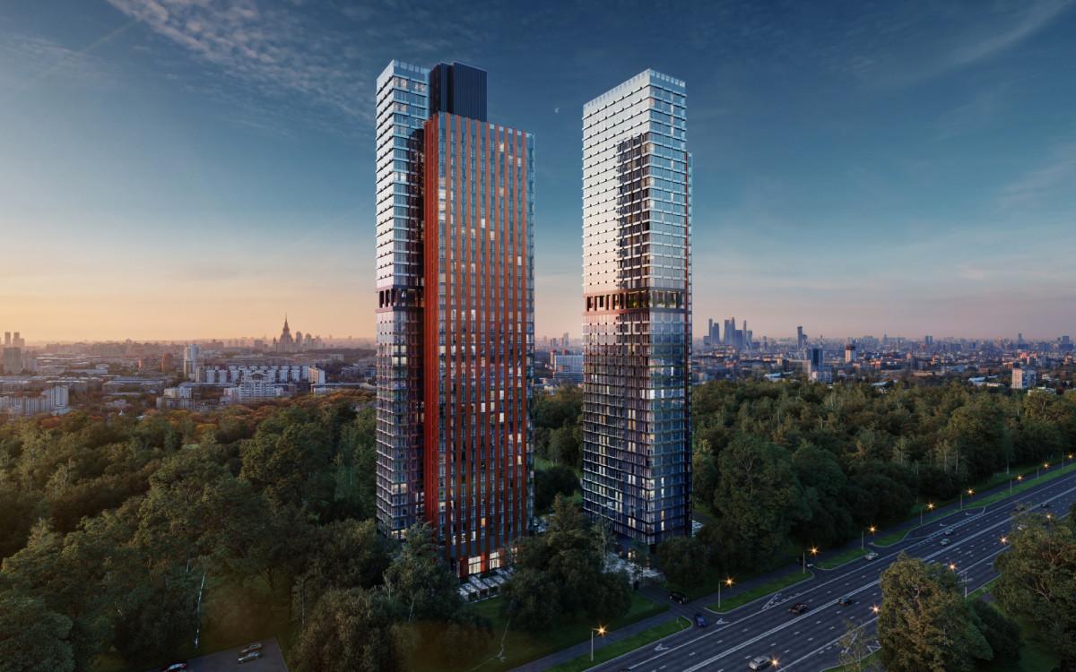 Перспективный вид на жилой комплекс Eniteo