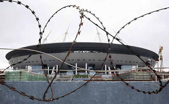 Вид настадион «Зенит Арена», июль 2016 года