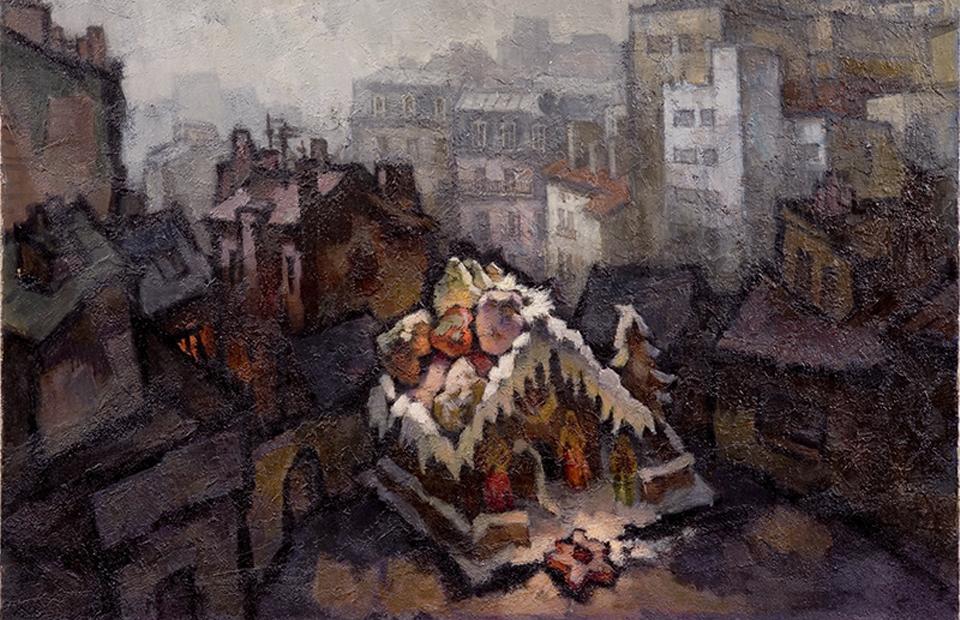 Оскар Рабин, «Рождество на Северном Полюсе», 1981