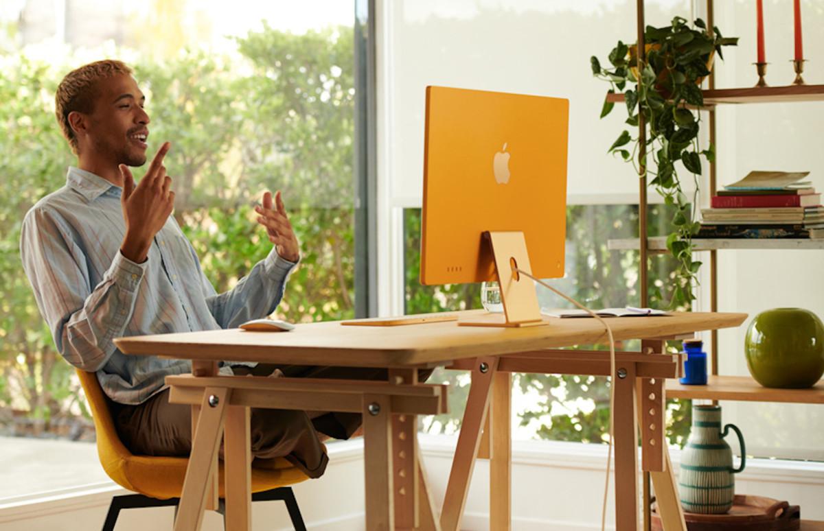 Новый моноблок iMac с диагональю экрана 24 дюйма