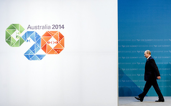 Президент России Владимир Путин на саммите G20 в Австралии
