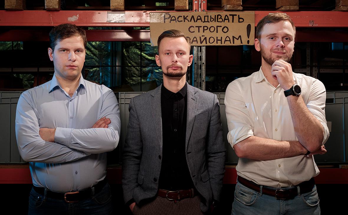 Иван Винокуров, Сергей Цымбаревич,Григорий Бочаров (слева направо)