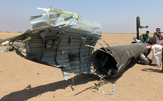 Российский Ми-8, которыйбыл сбит впонедельник впровинции Идлиб