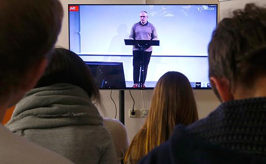 Пресс-конференция Михаила Ходорковского вофисе общественного движения «Открытая Россия»