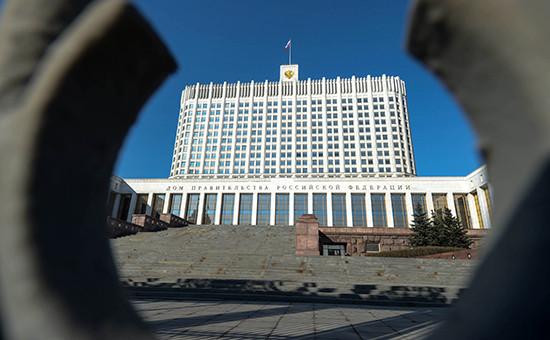 Вид на дом правительства России