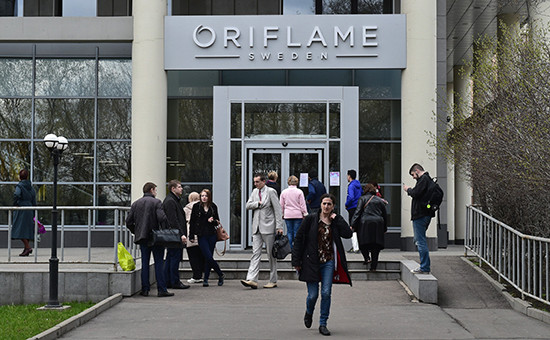 Офис компании Oriflame наулице Усачева вМоскве. 22 апреля 2016 года.