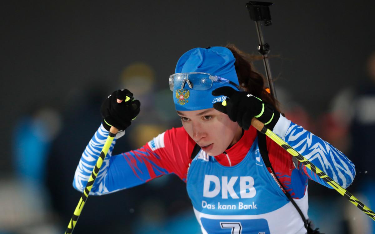 Биатлонистка сборной России Ульяна Кайшева