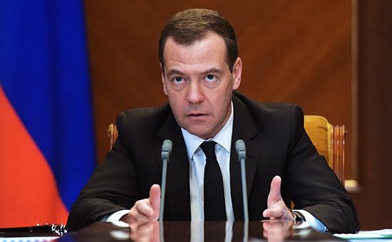 Премьер-министр РФ Дмитрий Медведев насовещании повопросам совершенствования системы закупок 18 марта 2016 года