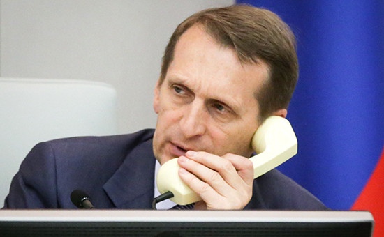Председатель нижней палаты российского парламента Сергей Нарышкин