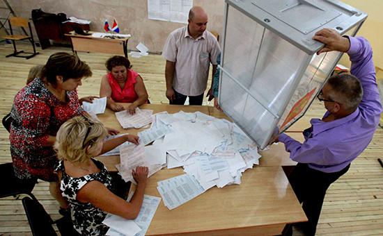 Подсчет голосов на выборах в единый день голосования в Приморском крае